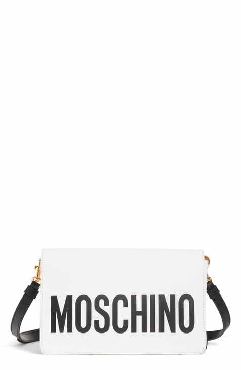 89cd0451486 Moschino Logo Leather Crossbody Bag