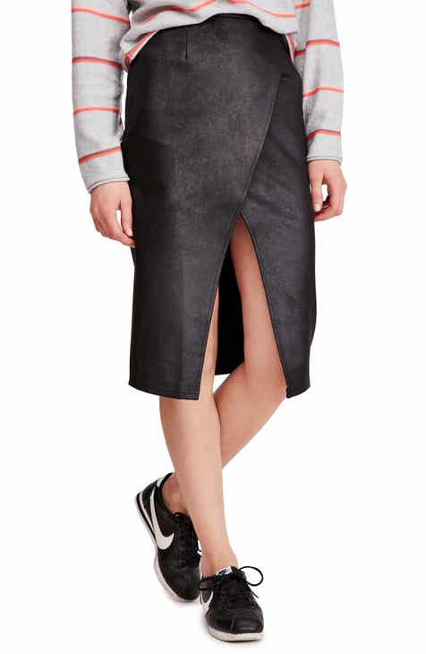 c397655d23e797 Free People Whitney Faux Leather Skirt. $98.00. Product Image