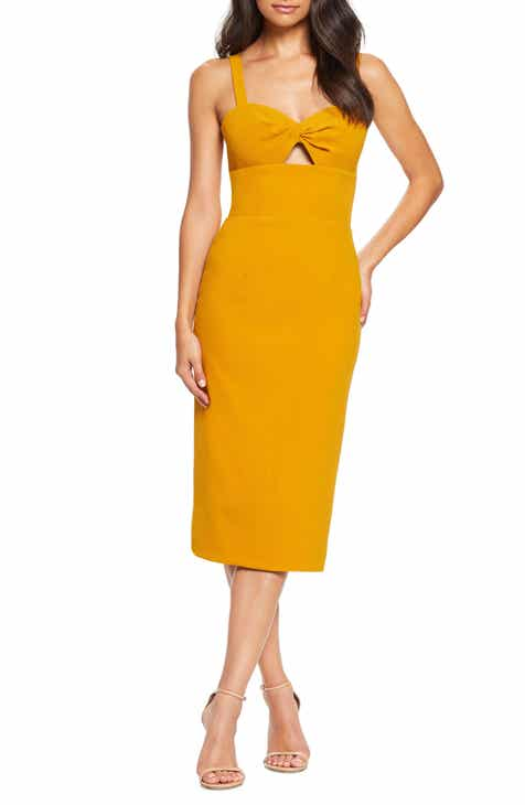 35311f1fb886ad Dress the Population Eve Sweetheart Twist Front Sleeveless Midi Sheath Dress