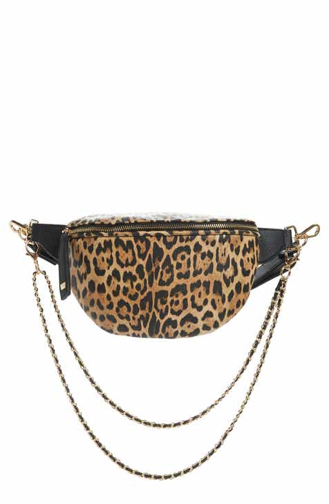 2cf9af84fb2b Like Dreams Animal Print Convertible Leather Belt Bag