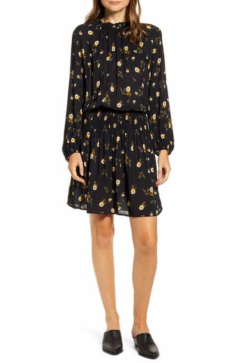 1c074046a Velvet by Graham & Spencer Floral Print Long Sleeve Drop Waist Dress