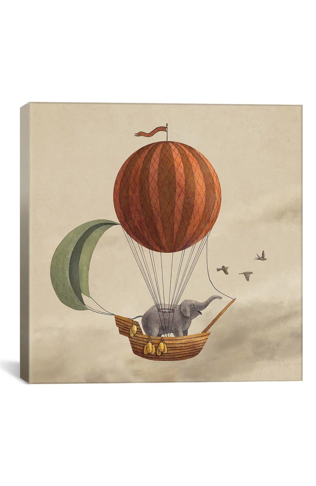 'Adventure Awaits - Terry Fan' Giclée Print Canvas Art,                         Main,                         color, Beige