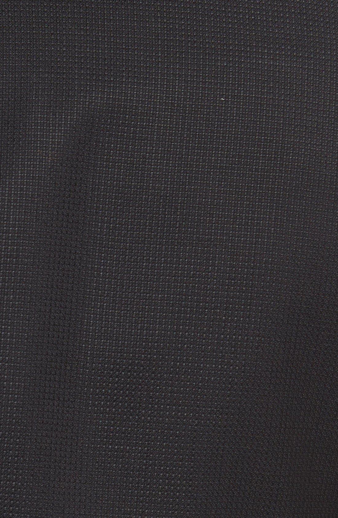Hutch Trim Fit Wool Blazer,                             Alternate thumbnail 4, color,                             Black