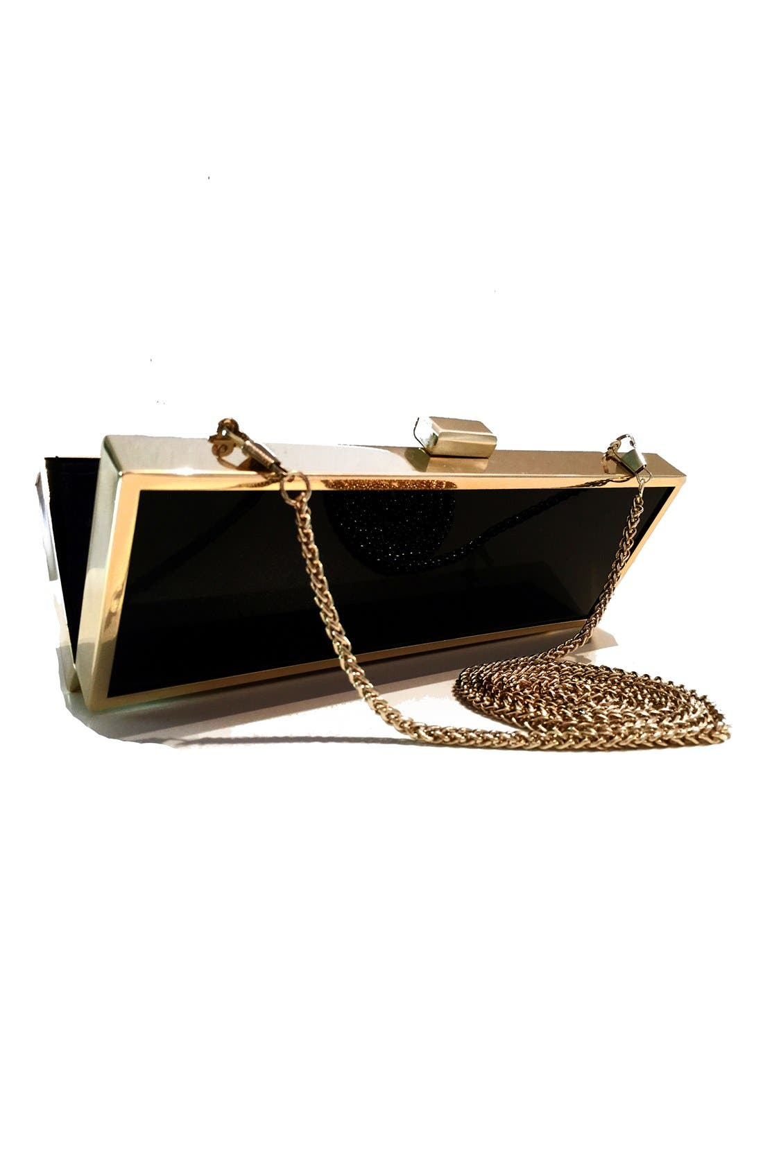 'Emergence' Box Clutch,                             Alternate thumbnail 2, color,                             Silver