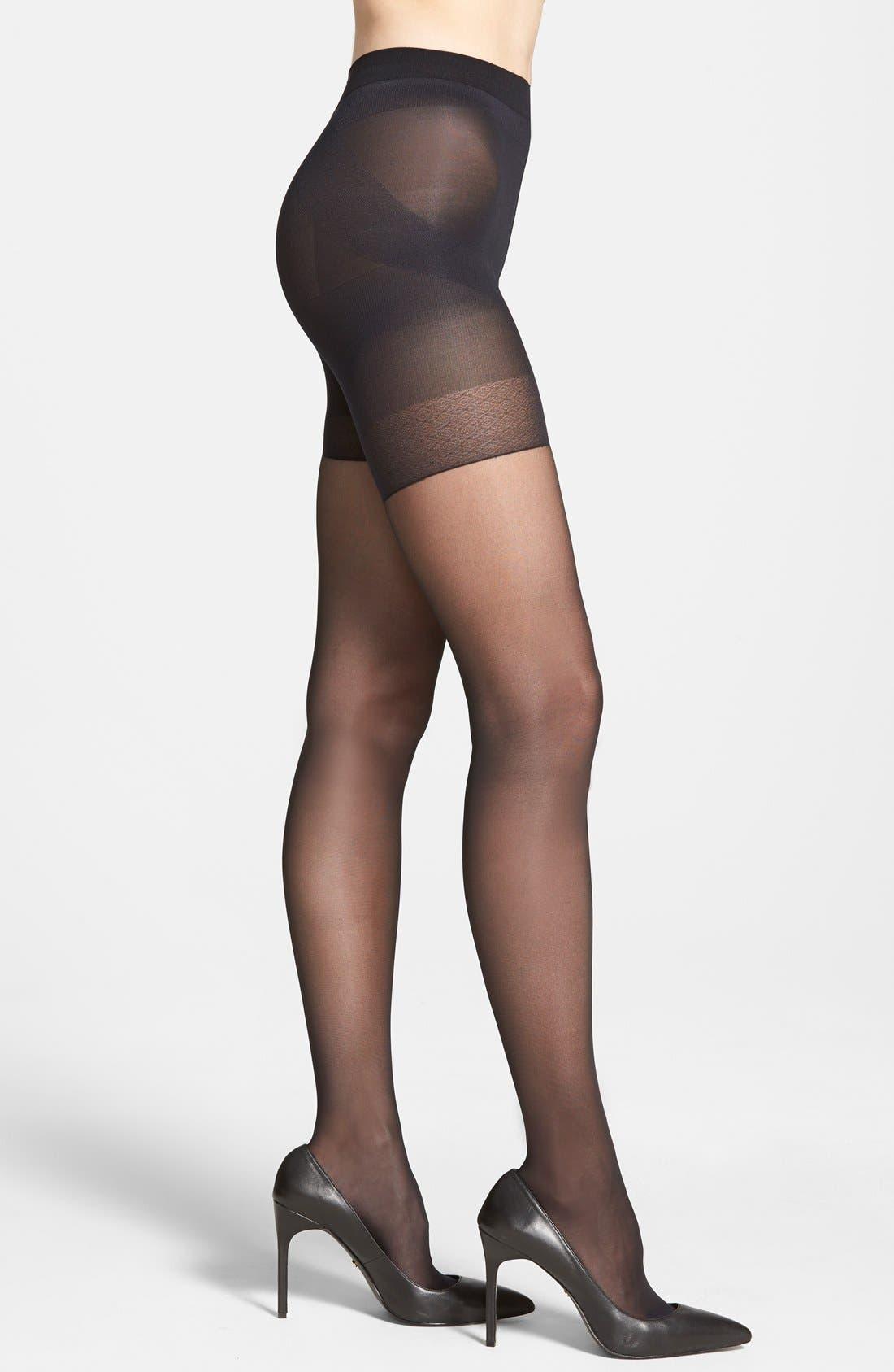 Shock Up Shaping Pantyhose,                         Main,                         color, Black