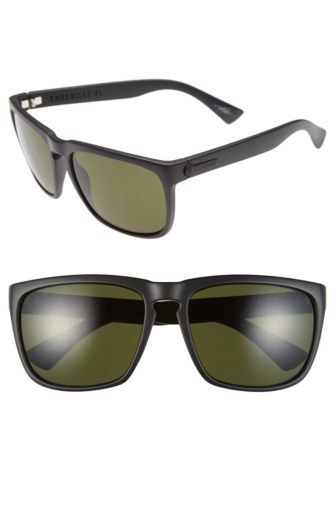 'Knoxville XL' 61mm Sunglasses,                         Main,                         color, Matte Black/ Grey