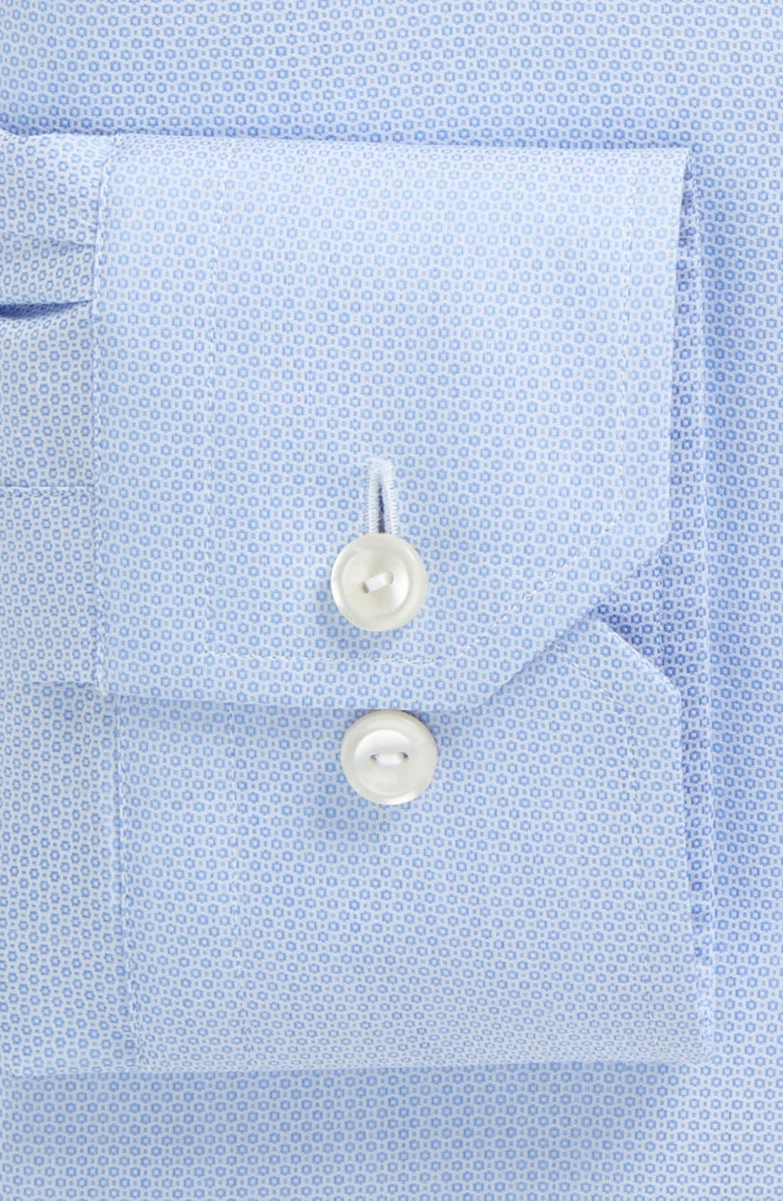 Contemporary Fit Textured Solid Dress Shirt,                             Alternate thumbnail 3, color,                             Blue