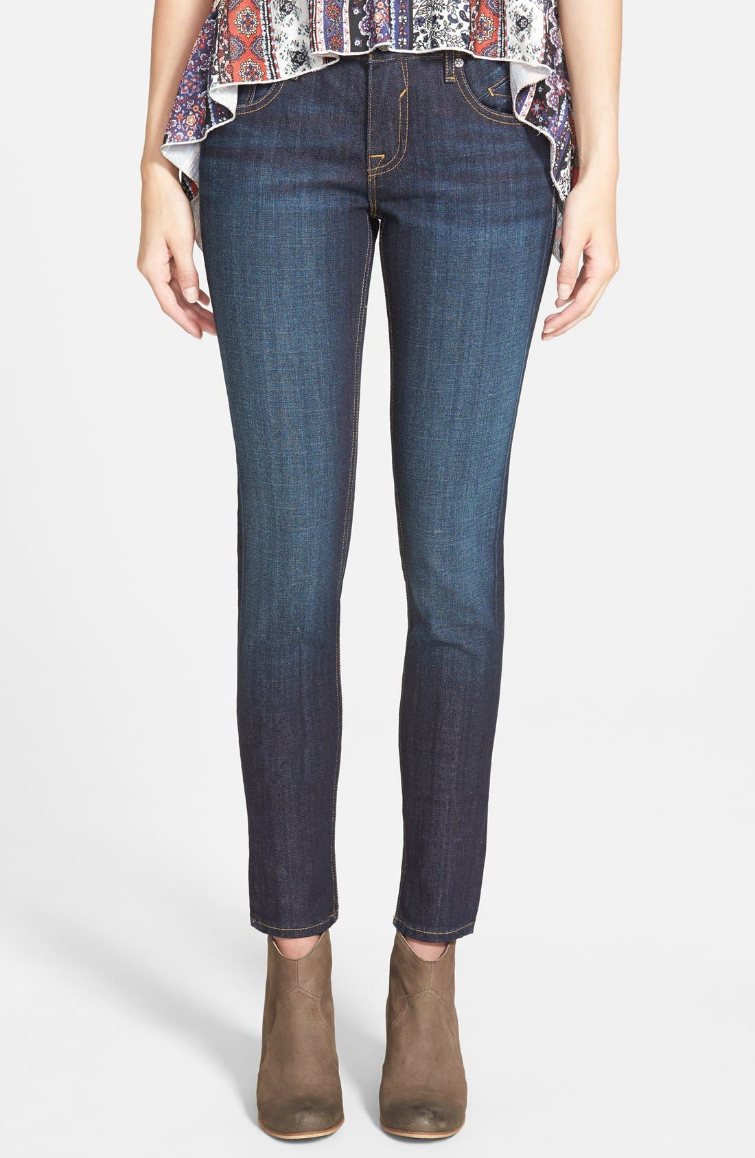 'Chelsea' Skinny Jeans,                         Main,                         color, Dark Wash
