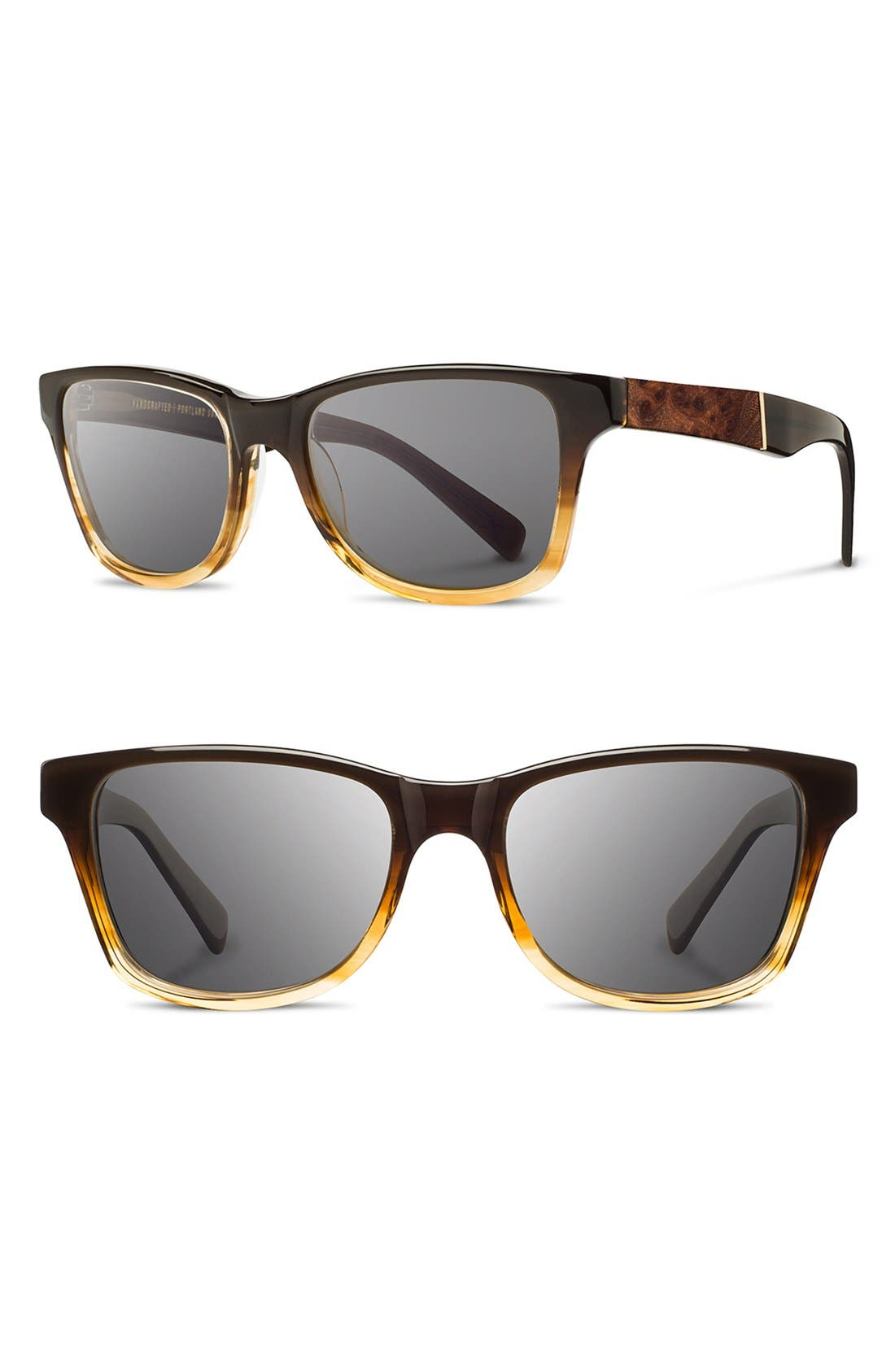 Shwood 'Canby' 54mm Acetate & Wood Sunglasses