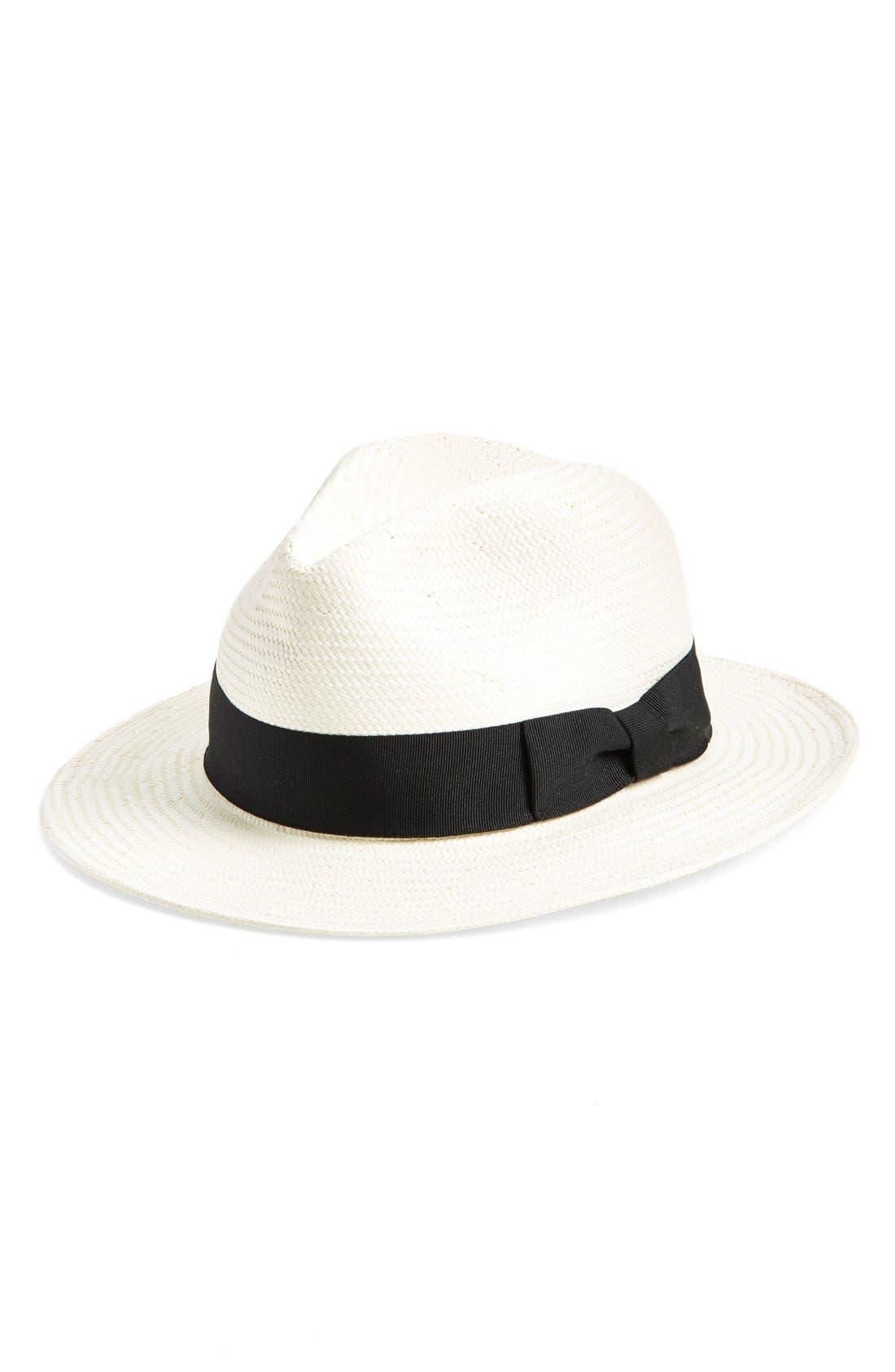 Panama Hat,                             Main thumbnail 1, color,                             Natural