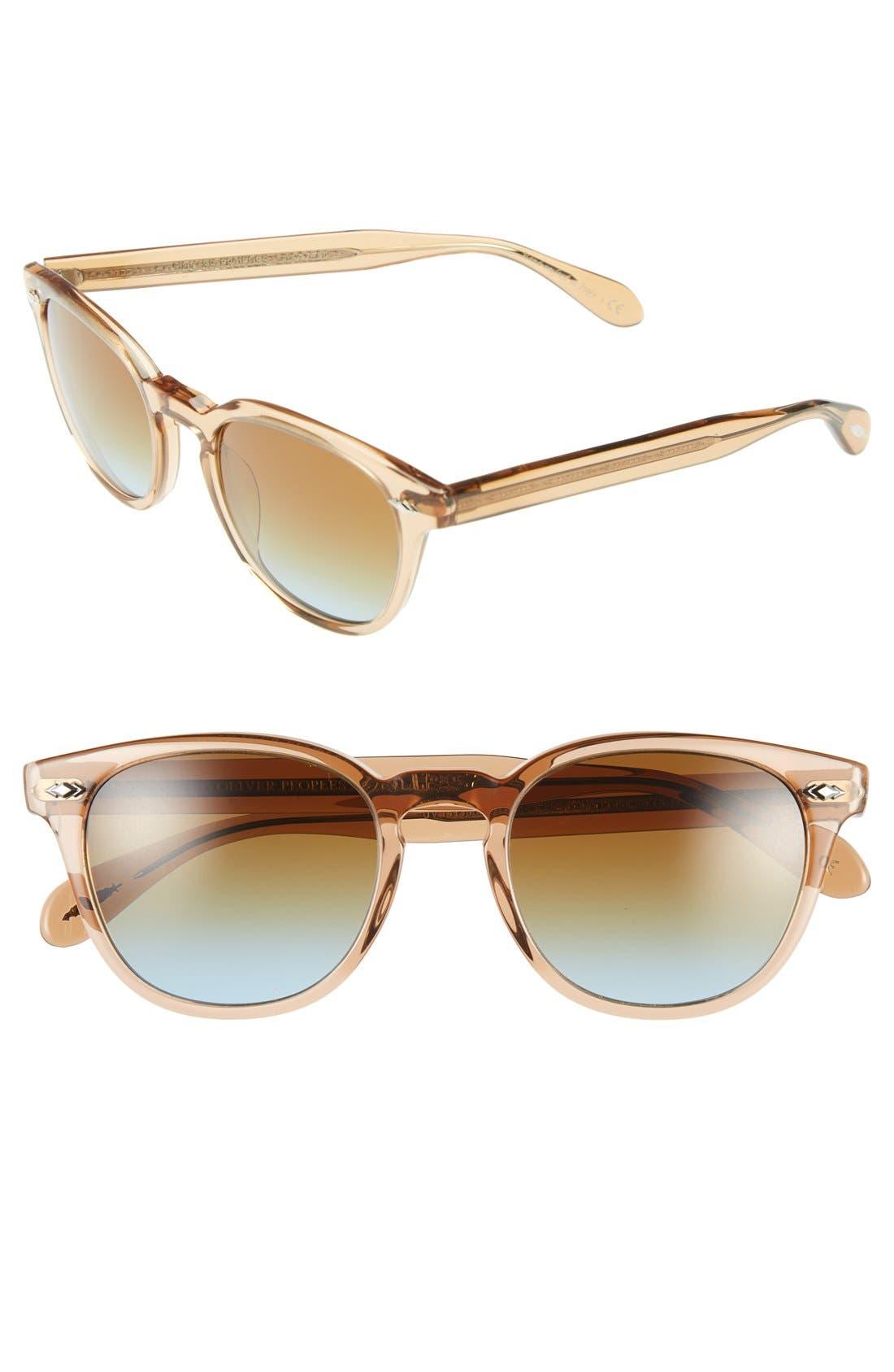 Alternate Image 1 Selected - Oliver Peoples 'Sheldrake Plus' 52mm Retro Sunglasses