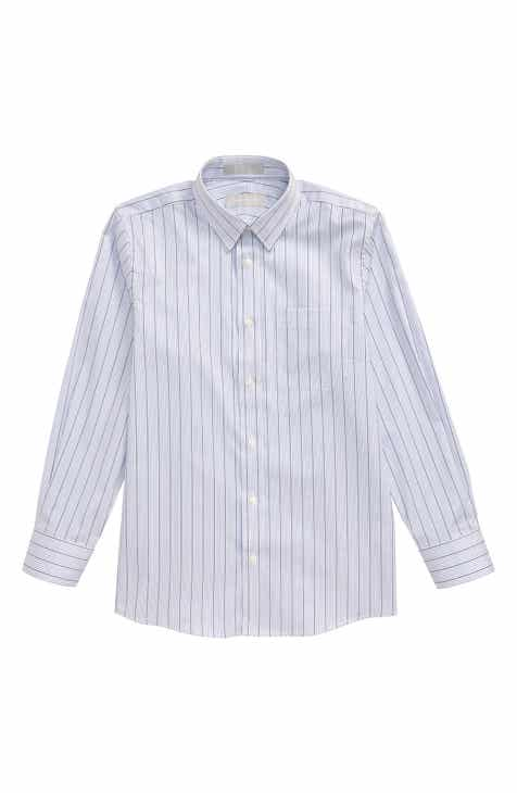 Nordstrom Stripe Button-Up Dress Shirt (Big Boys)