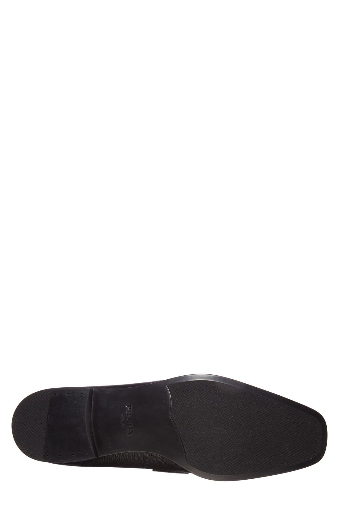 Saffiano Leather Bit Loafer,                             Alternate thumbnail 4, color,                             Nero Leather