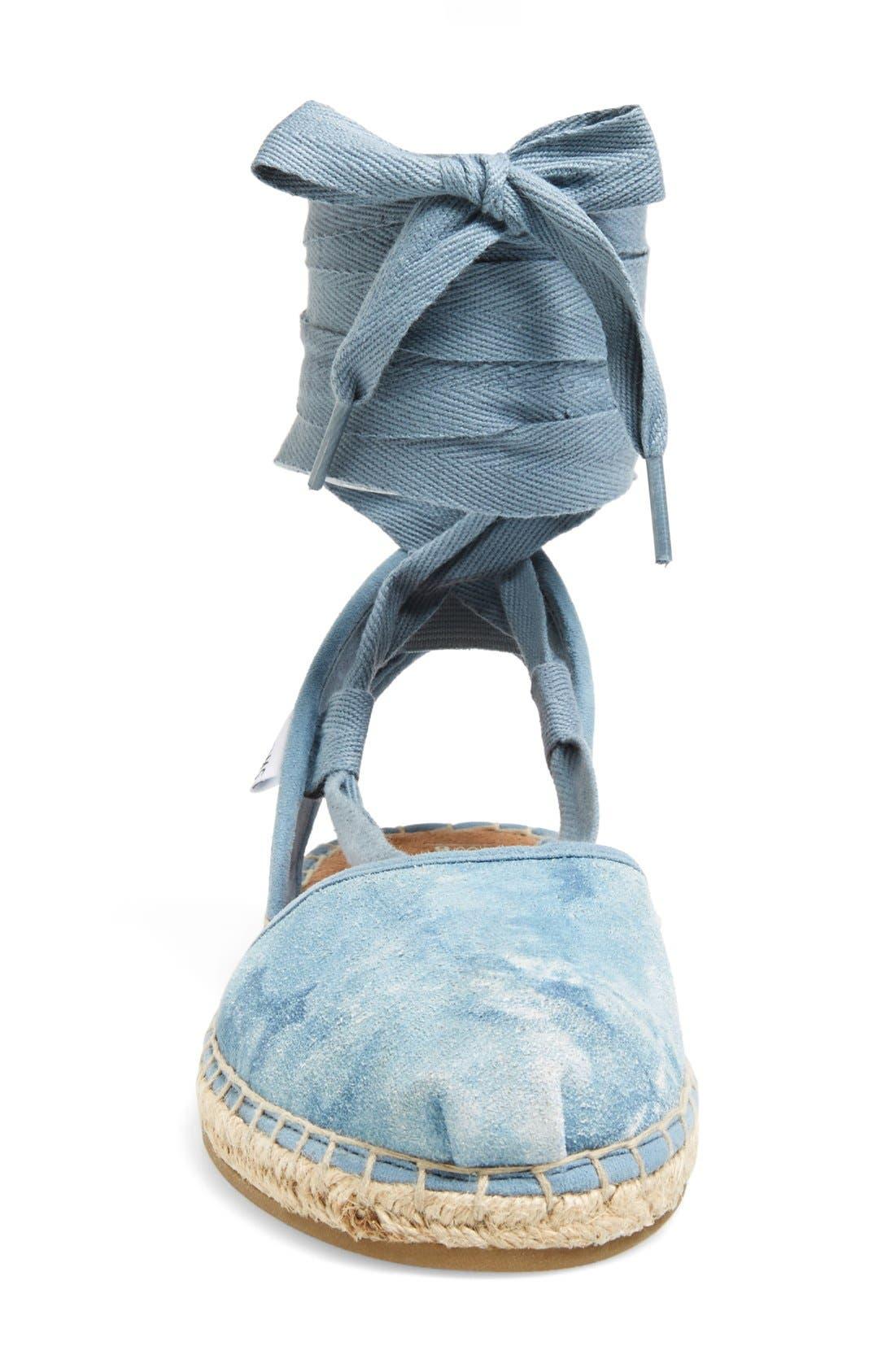 Alternate Image 3  - TOMS 'Bella' Washed Suede Lace-Up Espadrille Sandal (Women)
