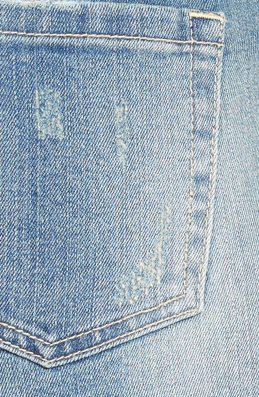 Alternate Image 3  - SP Black Crochet Trim Cutoff Denim Shorts (Medium)