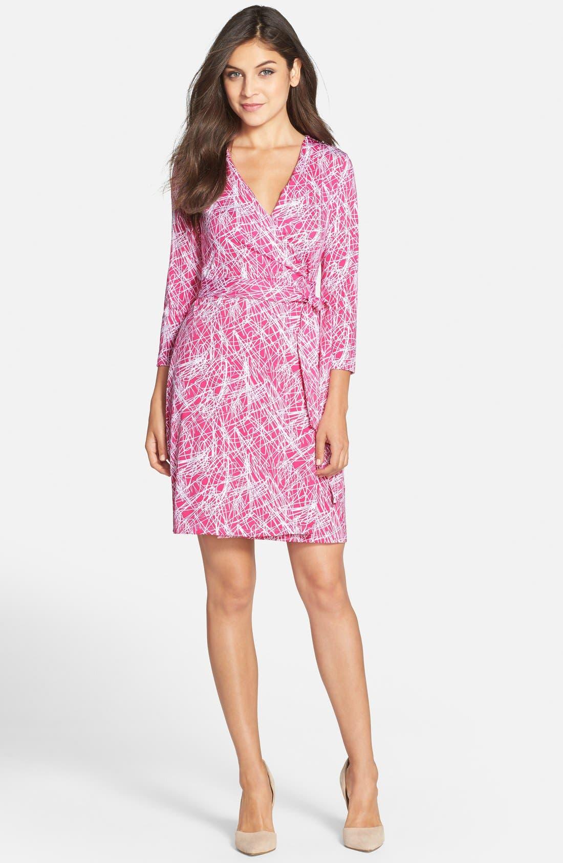 Alternate Image 3  - Charles Henry Print Jersey Wrap Dress