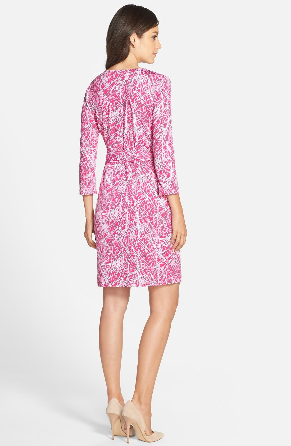 Alternate Image 2  - Charles Henry Print Jersey Wrap Dress