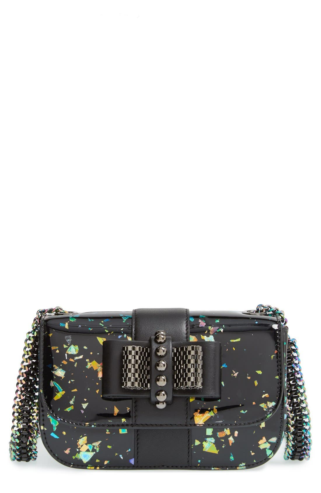 Main Image - Christian Louboutin 'Sweety Charity' Patent Leather Shoulder Bag