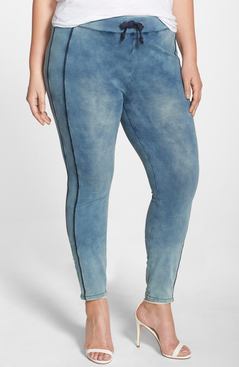 'Naomi' Stretch Knit Denim Jogger Pants