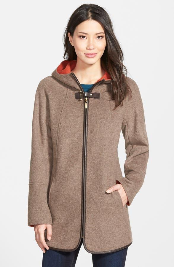 Ellen Tracy Hooded Double Face Swing Coat (Regular & Petite ...