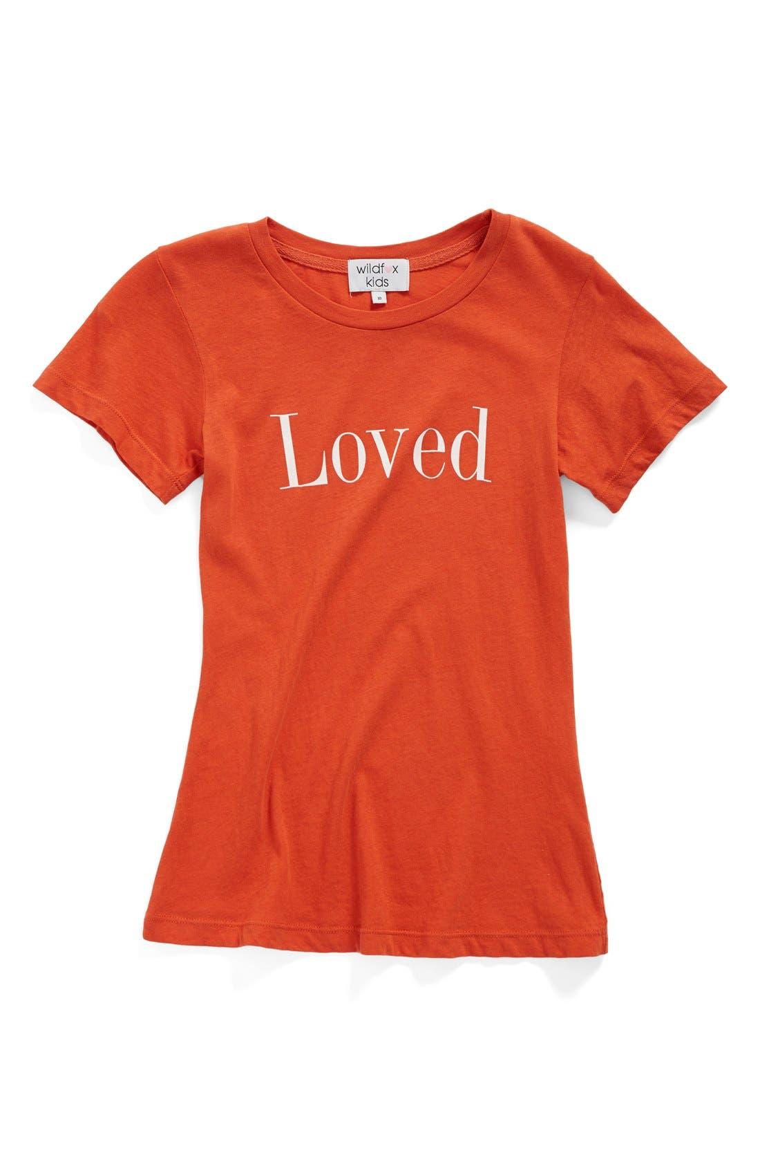 Main Image - Wildfox 'Loved' Graphic Cotton Tee (Little Girls & Big Girls)