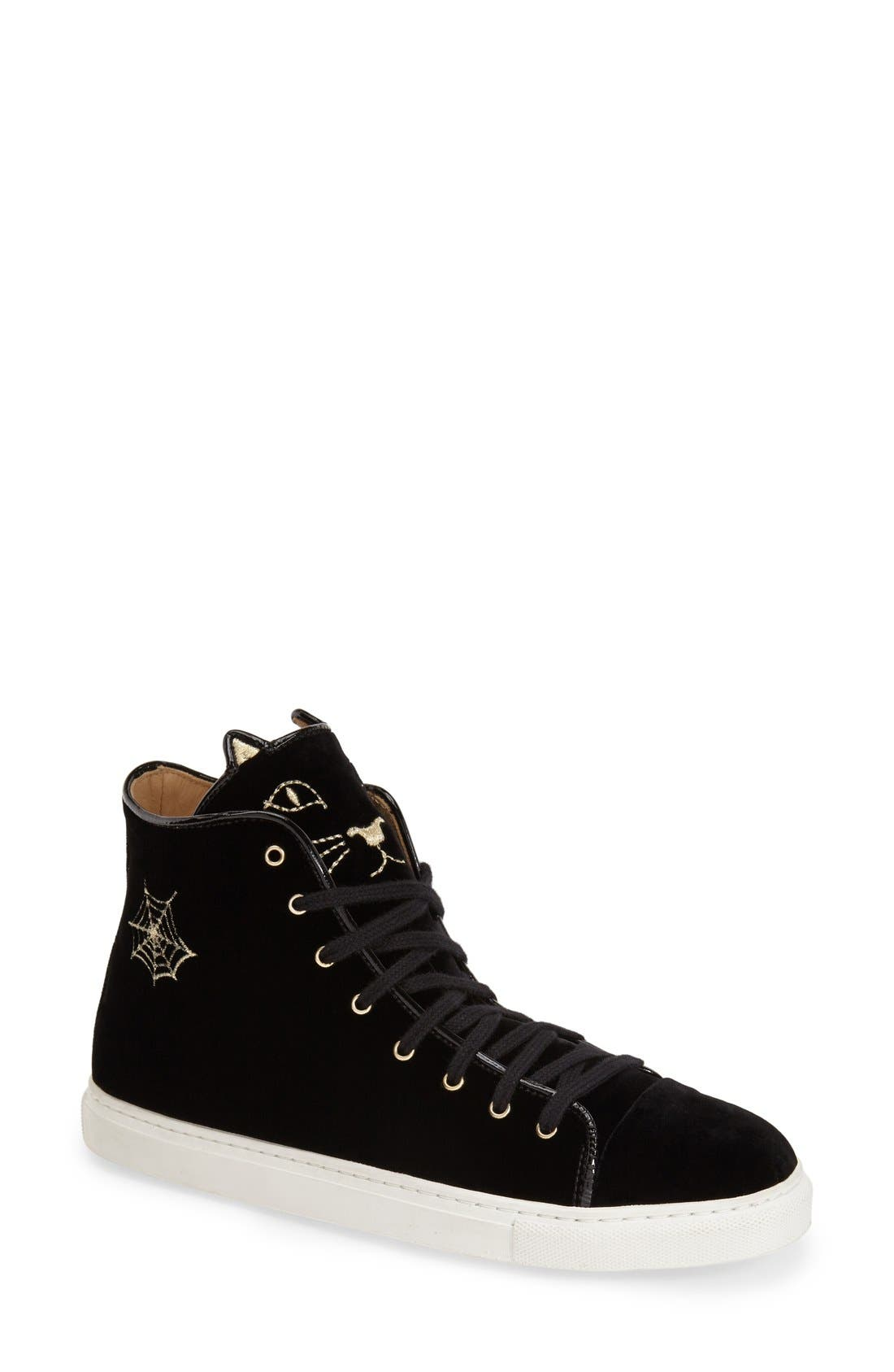 Alternate Image 1 Selected - Charlotte Olympia 'Purrrfect' High Top Sneaker (Women)