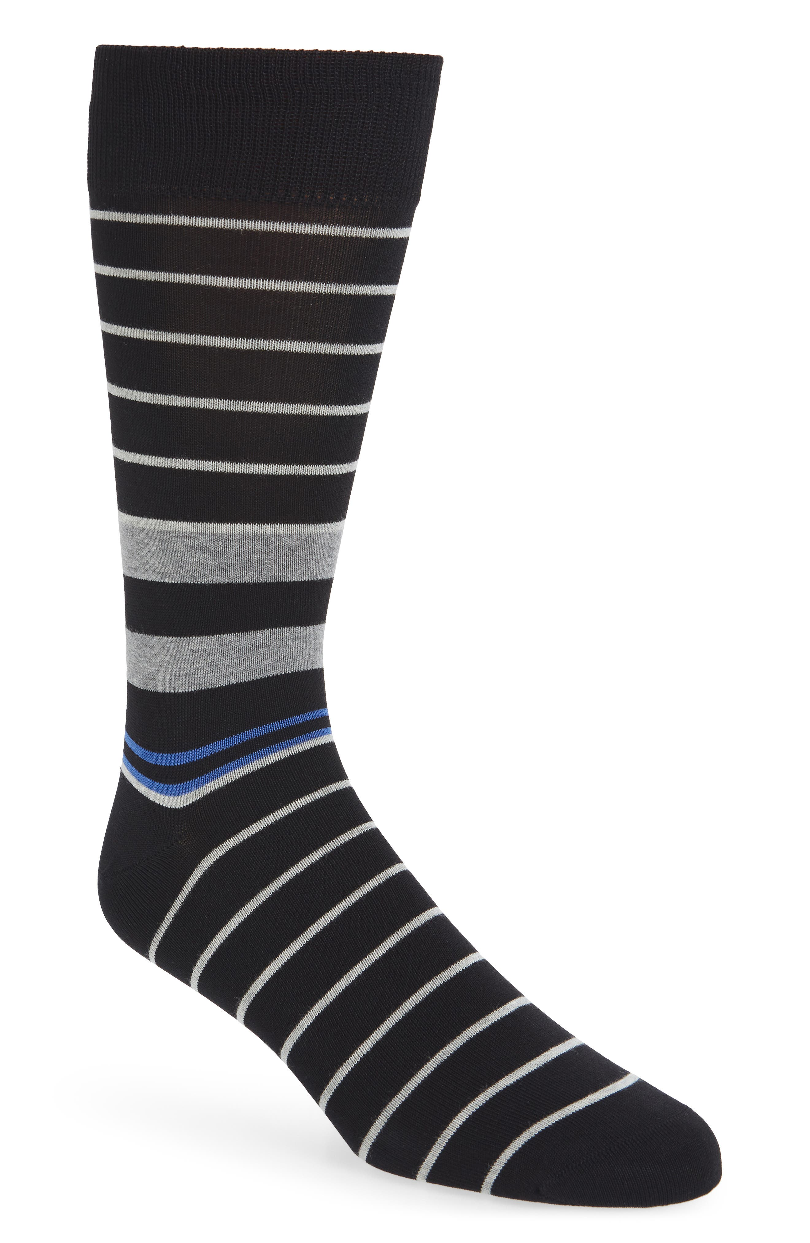 Mens Boot Socks nautical navy anchor stripe Athletic Non-Slid Painting