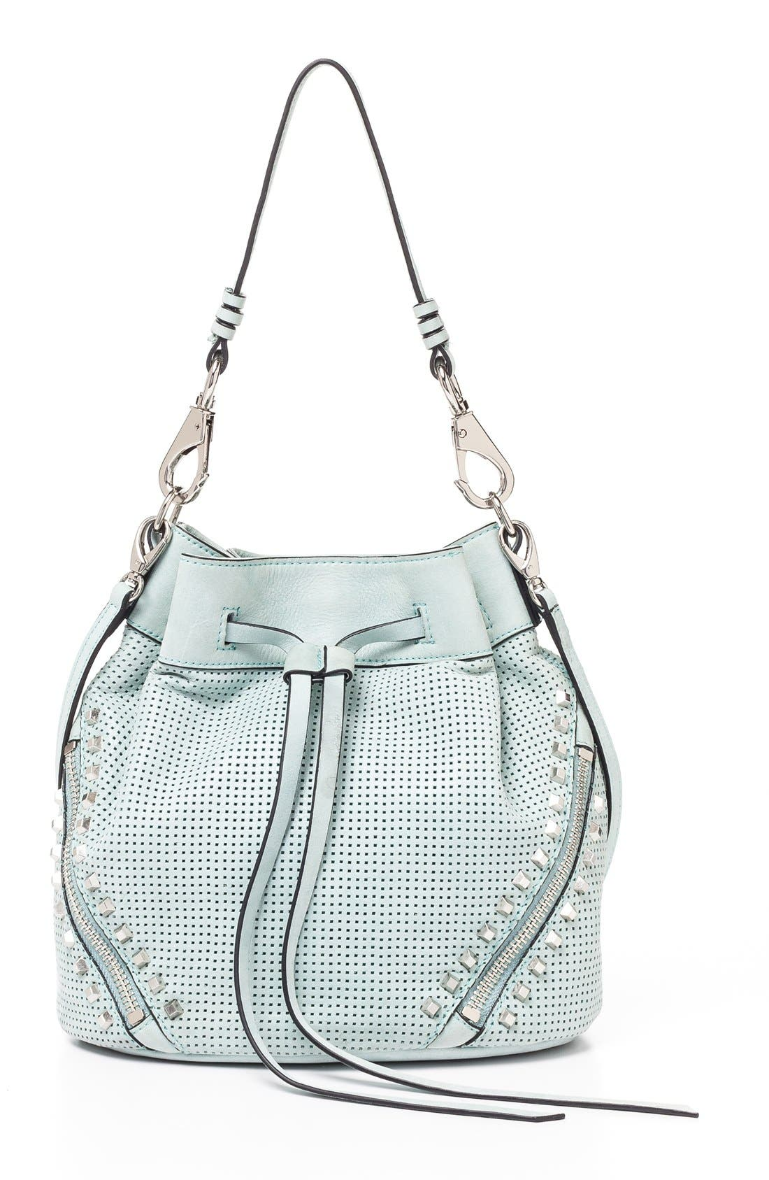 Alternate Image 1 Selected - She + Lo 'Make Your Mark' Leather Bucket Bag