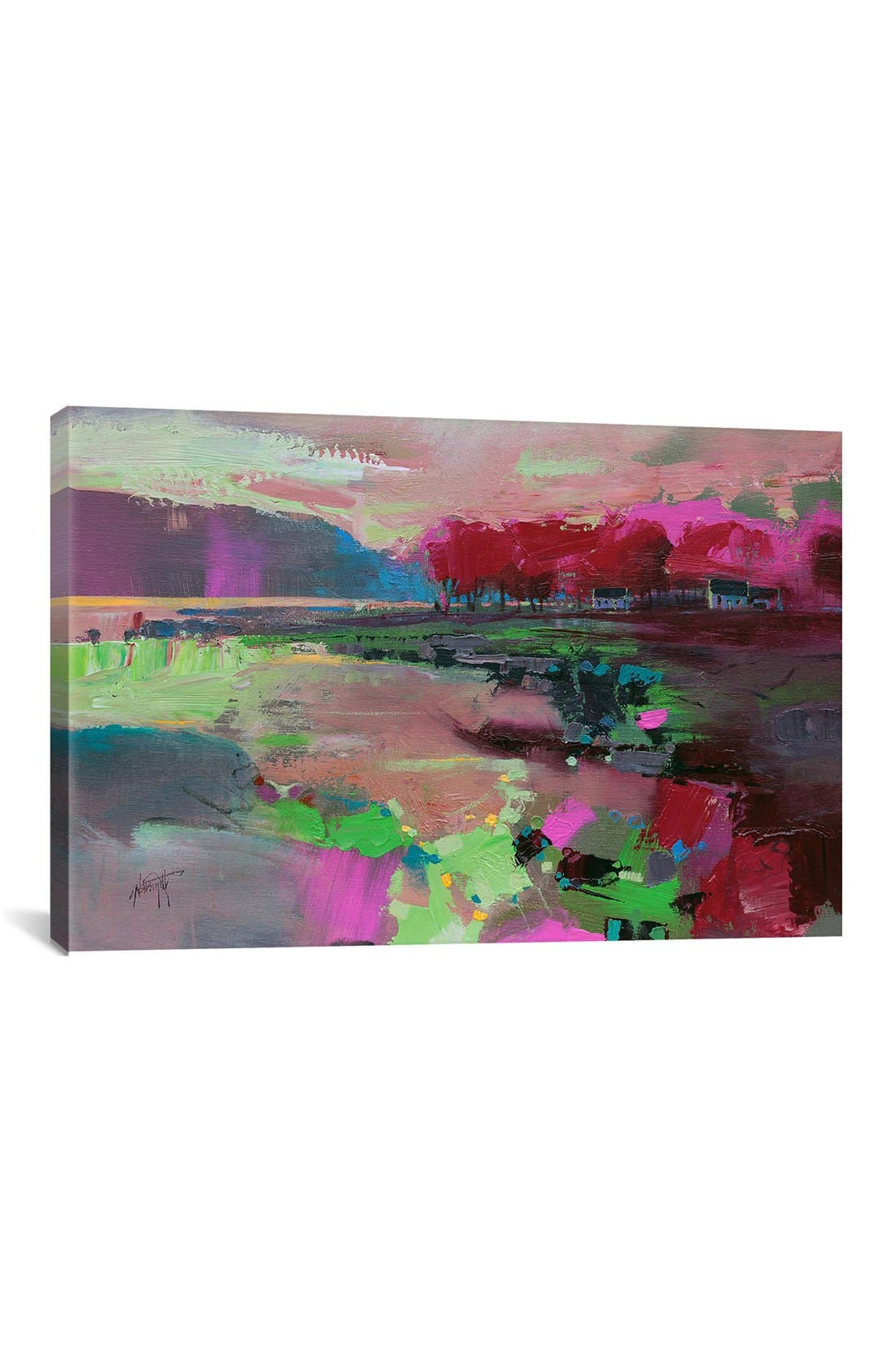 'Cowal Trees' Giclée Print Canvas Art,                             Main thumbnail 1, color,                             Pink
