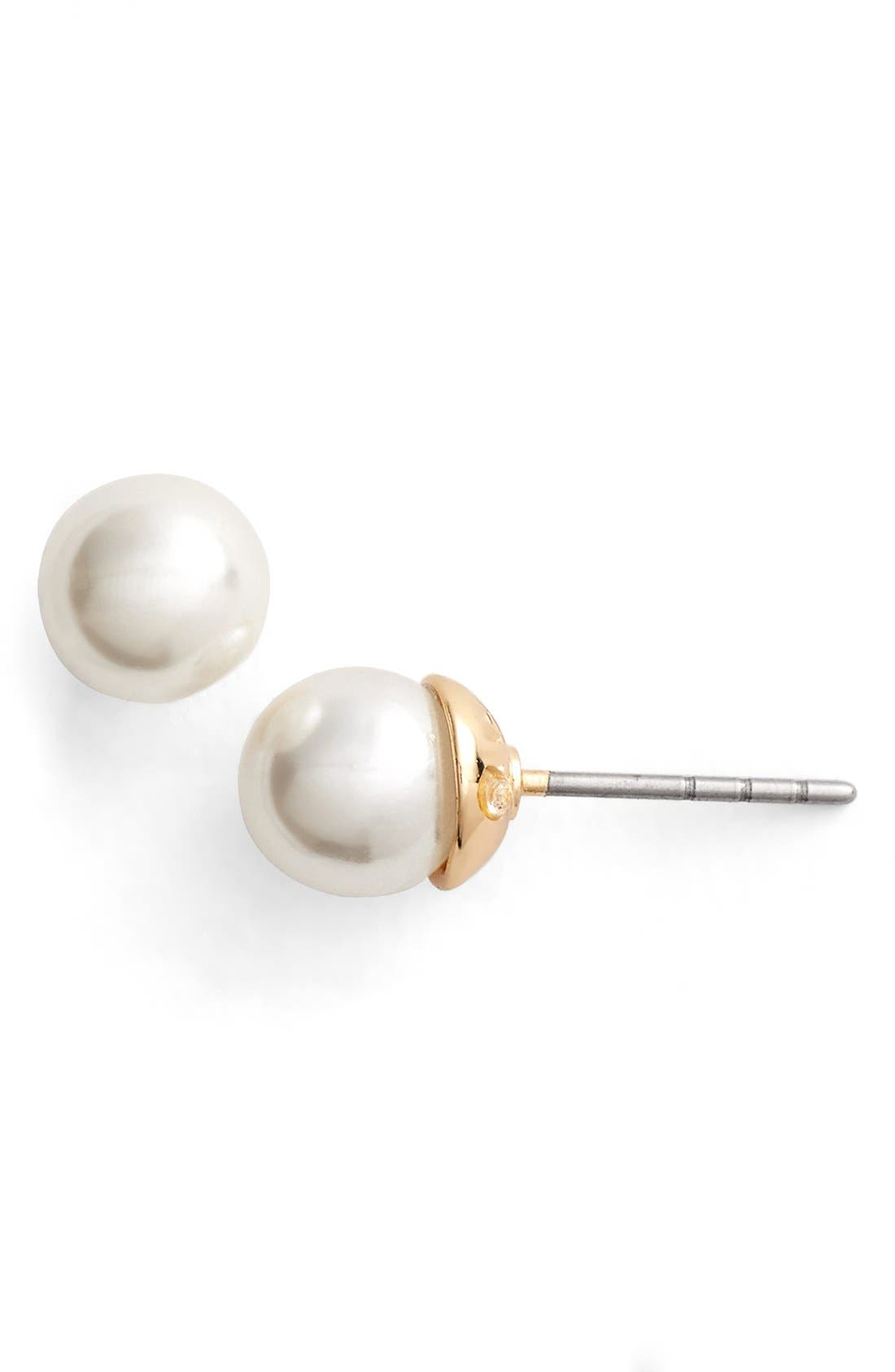 Alternate Image 1 Selected - Rebecca Minkoff 'Military Mix' Faux Pearl Stud Earrings