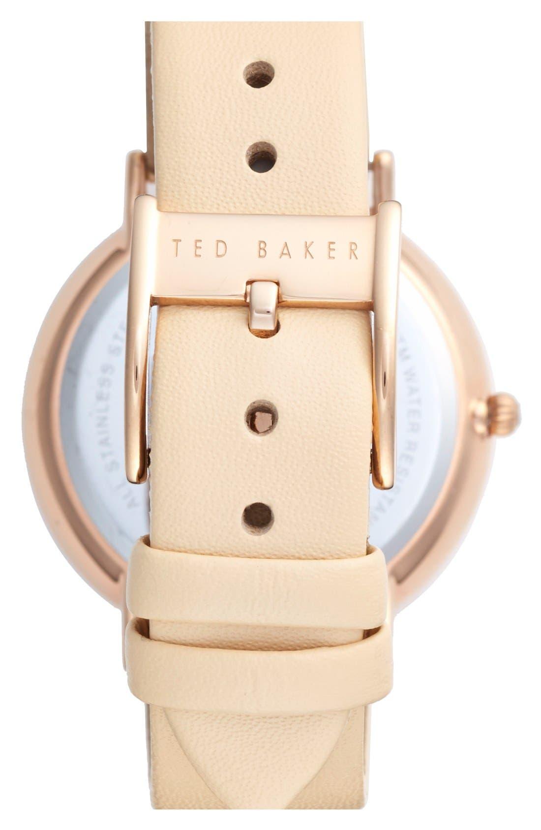 Alternate Image 2  - Ted Baker London 'Dress Sport' Multifunction Leather Strap Watch, 38mm
