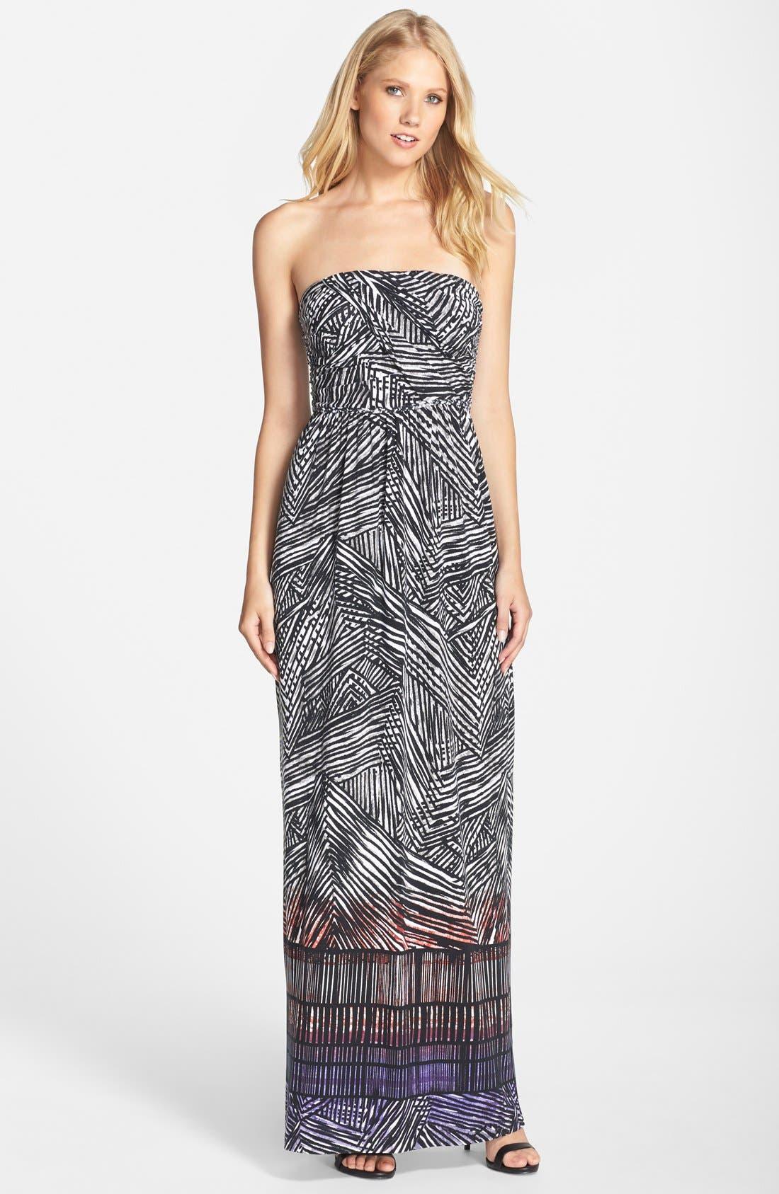 Alternate Image 1 Selected - Tart 'Delancy' Print Jersey Maxi Dress