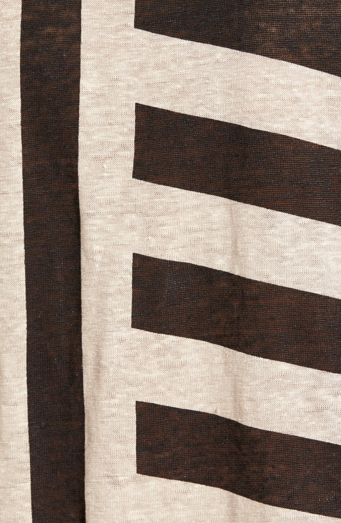 Alternate Image 3  - Plenty by Tracy Reese Stripe Linen Tee