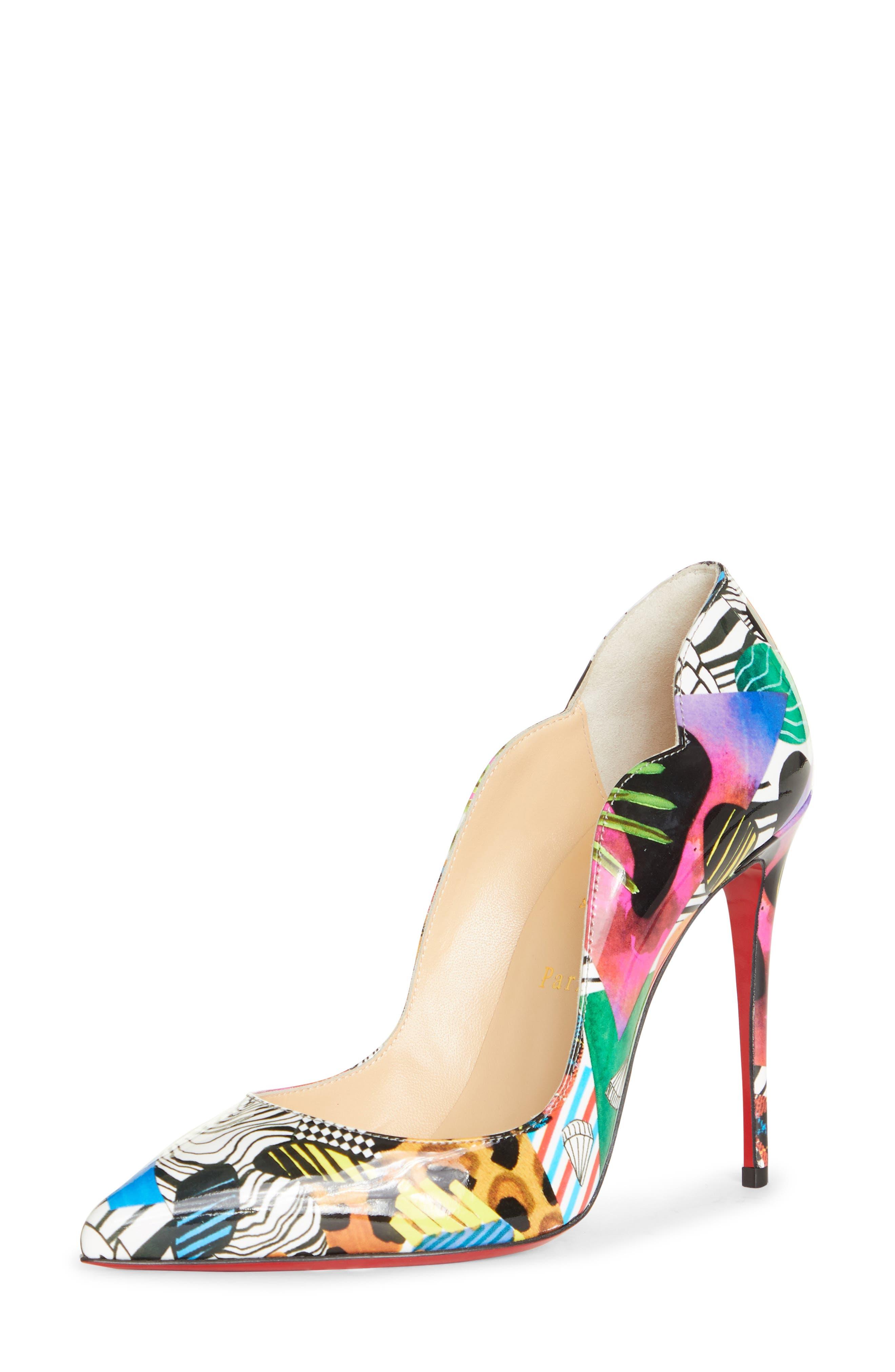 purple designer heels