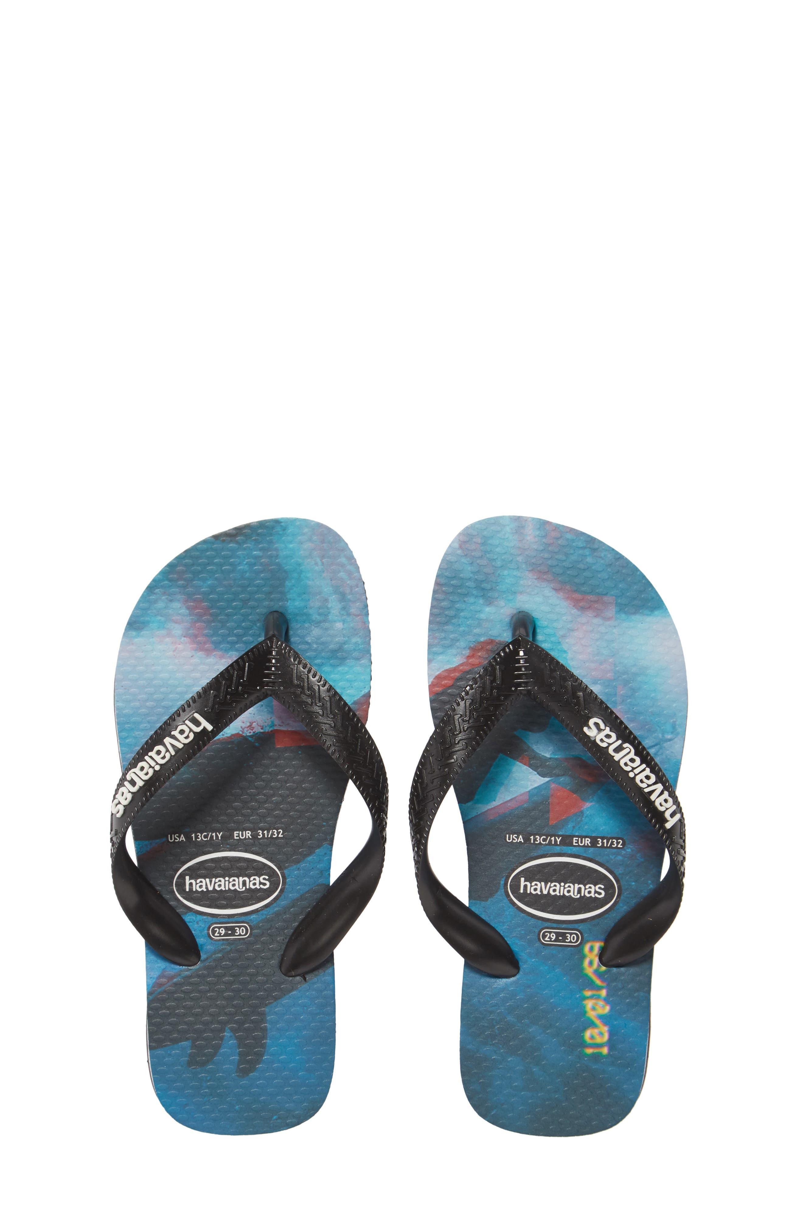 HAVAIANAS Genuine NEW Kids Unisex THONGS FLIP FLOPS SANDALS shark black//grey