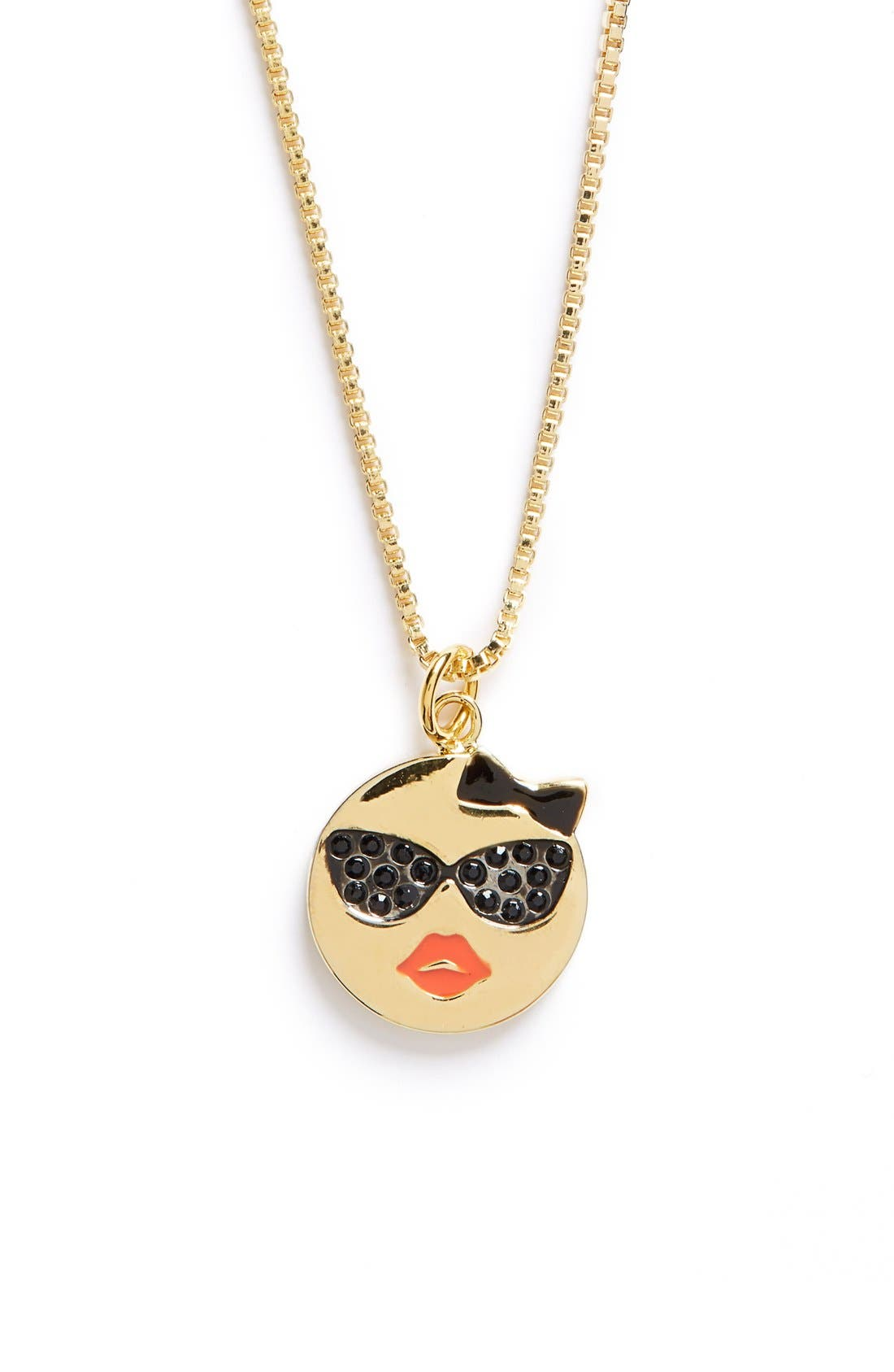 Main Image - kate spade new york 'tell all' emoji pendant necklace