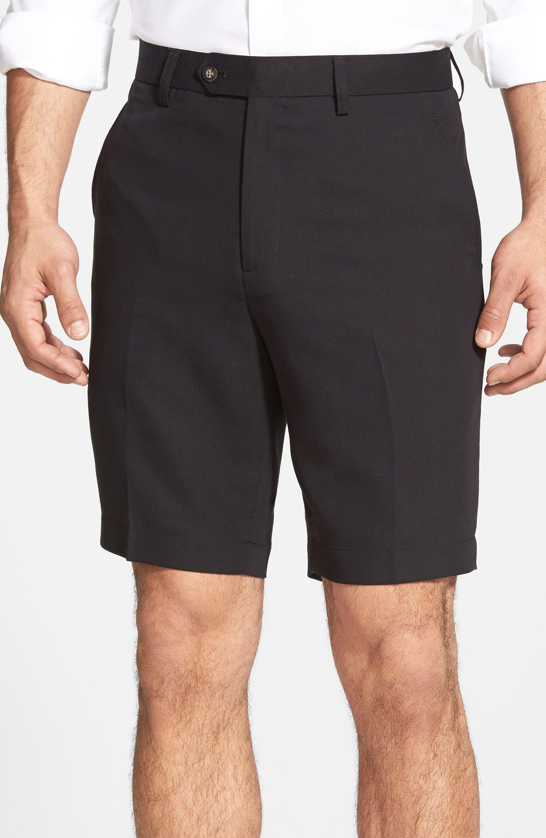 Microfiber Twill Shorts,                         Main,                         color, Black