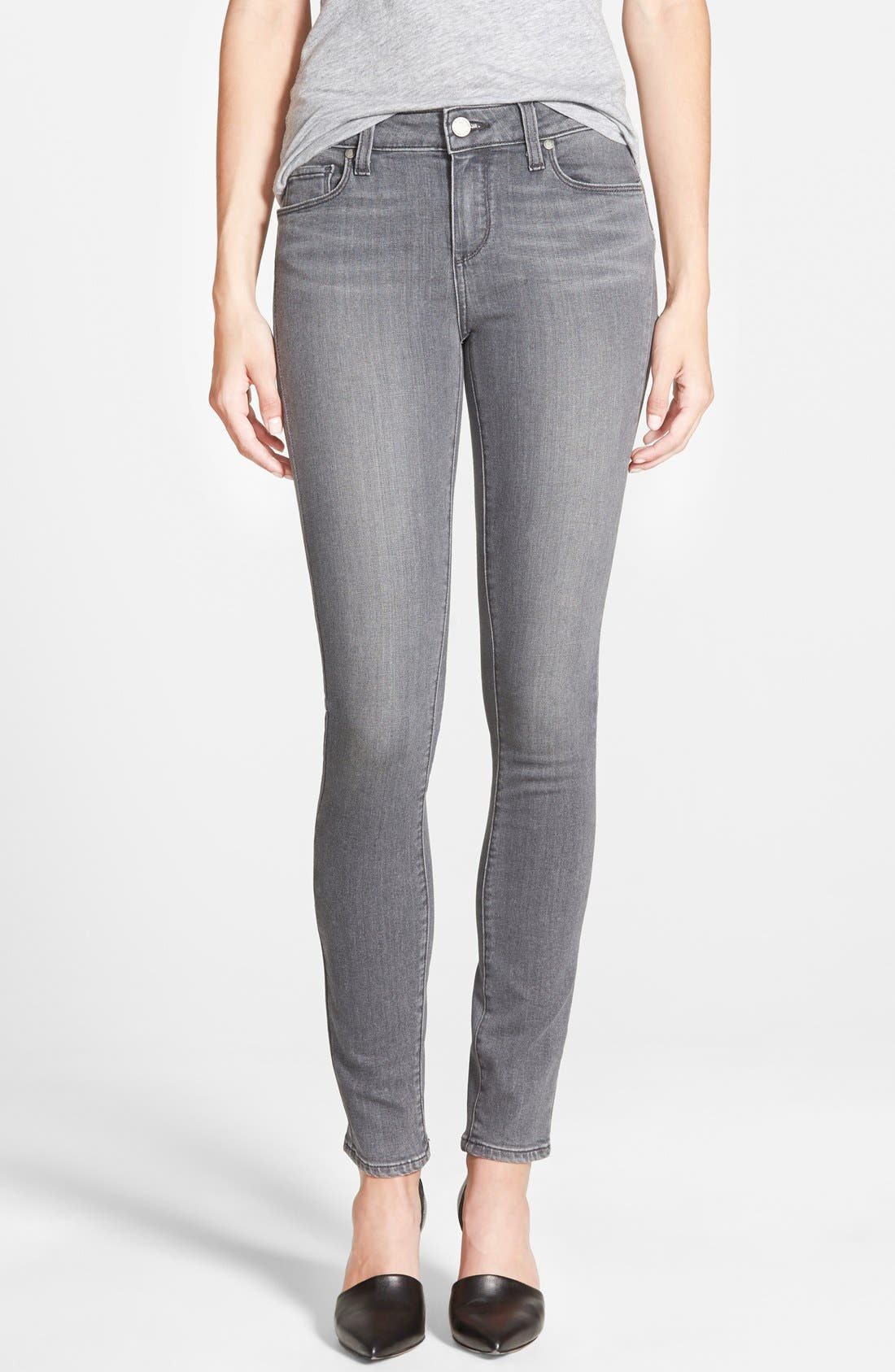 Main Image - PAIGE Transcend - Verdugo Ultra Skinny Jeans (Silvie)