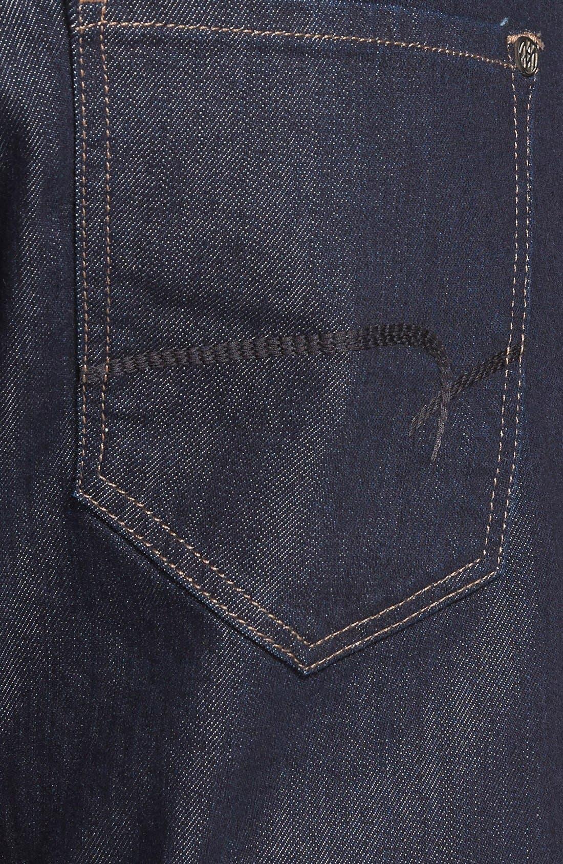 Alternate Image 4  - Mavi Jeans Zach Straight Leg Jeans (Rinse Williamsburg) (Regular & Tall)