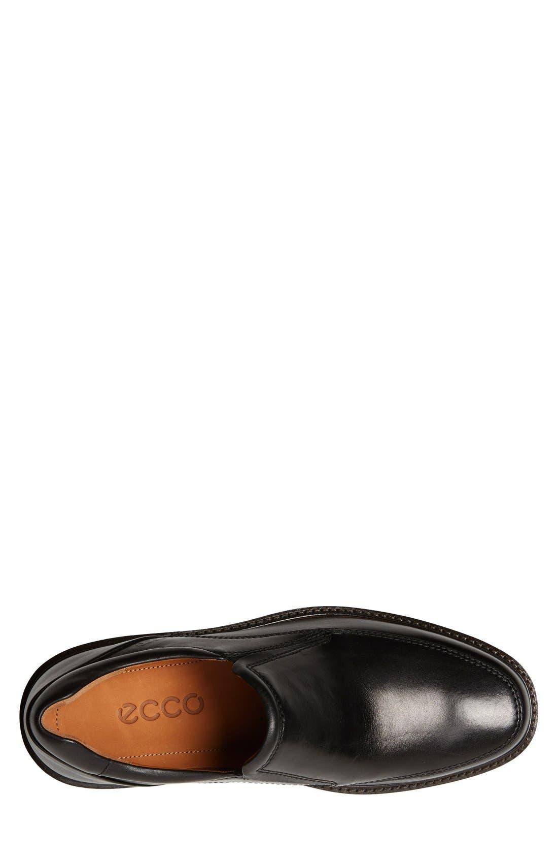 Holton Slip-On,                             Alternate thumbnail 3, color,                             Black Leather