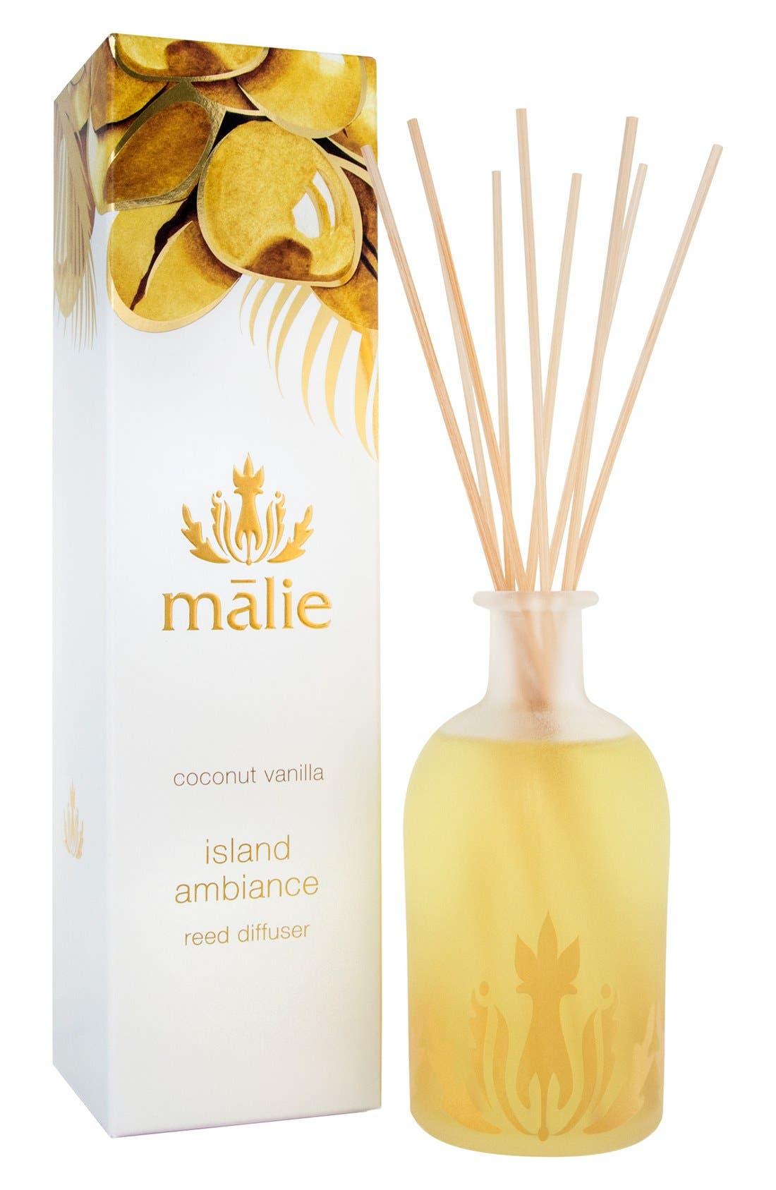 Alternate Image 1 Selected - Malie Organics Island Ambience™ Coconut Vanilla Reed Diffuser
