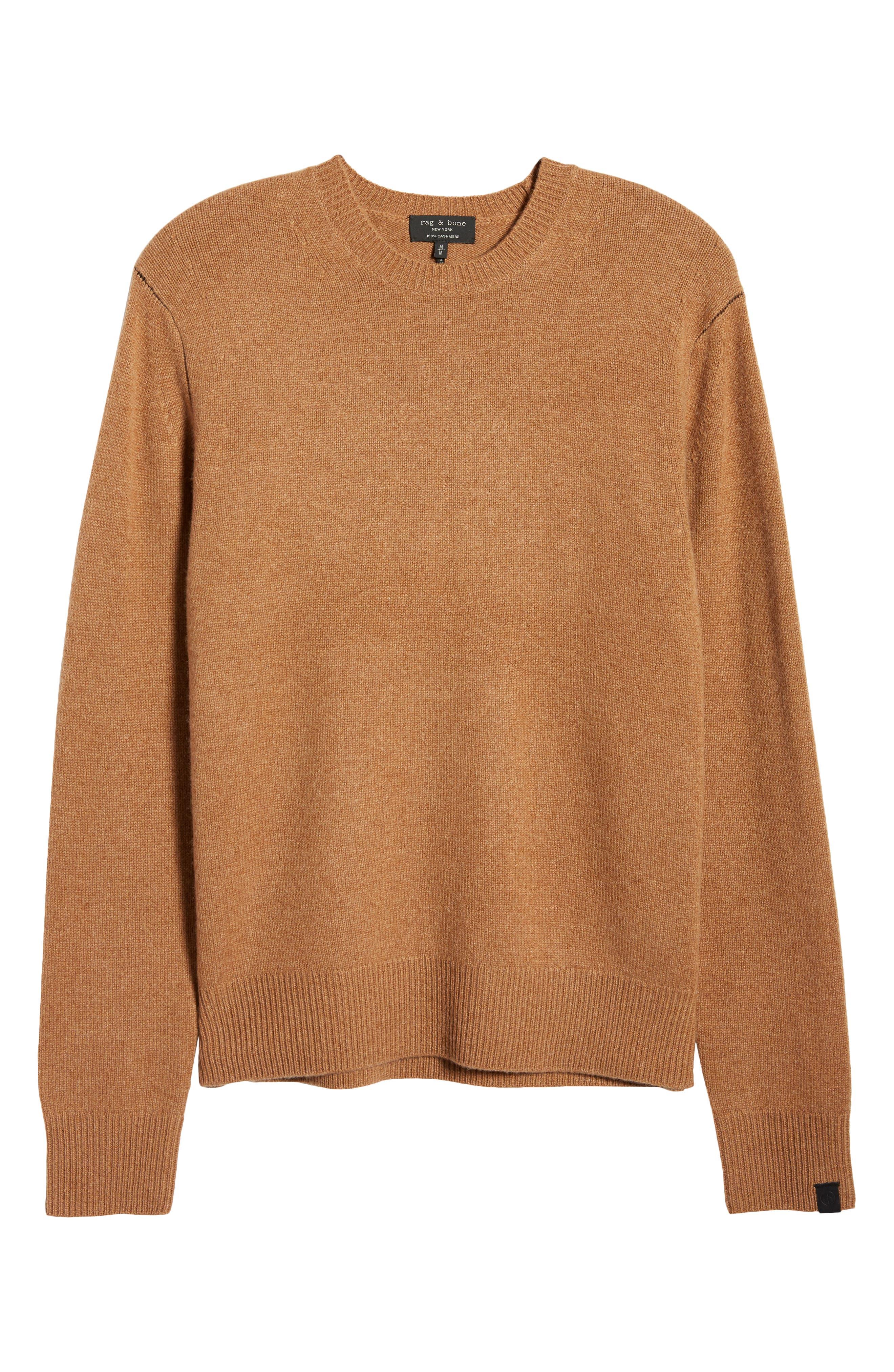 Rag /& Bone Men's Army Cotton Wool Double Knit Crew-Neck Long Sleeve T-Shirt $225