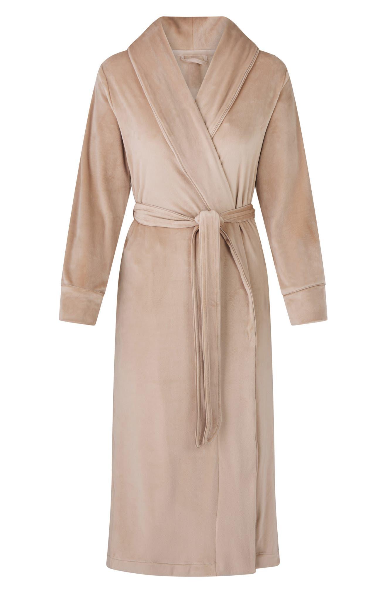 Essentials Damen Lightweight Waffle Full-Length Robe Bathrobes
