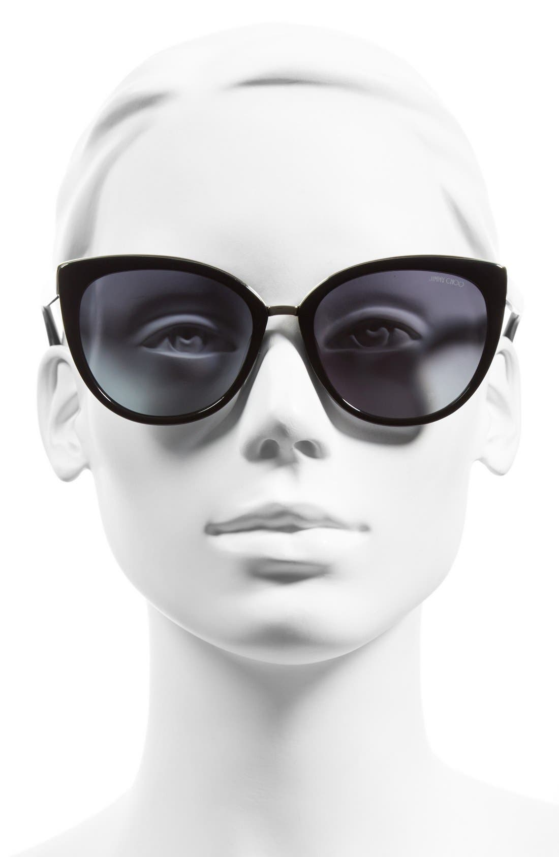 Alternate Image 2  - Jimmy Choo 'Danas' 56mm Cat Eye Sunglasses