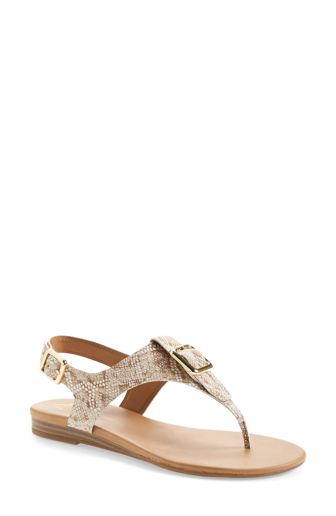 'Gita' Thong Sandal,                         Main,                         color, Natural Snake