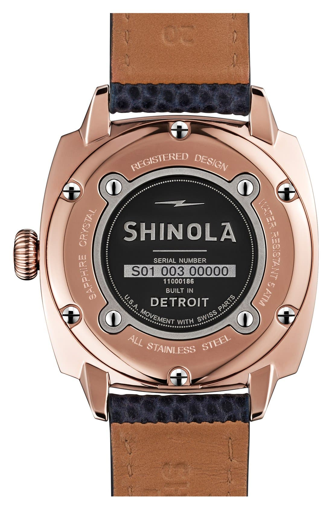 Alternate Image 3  - Shinola 'The Brakeman' Leather Strap Watch, 40mm