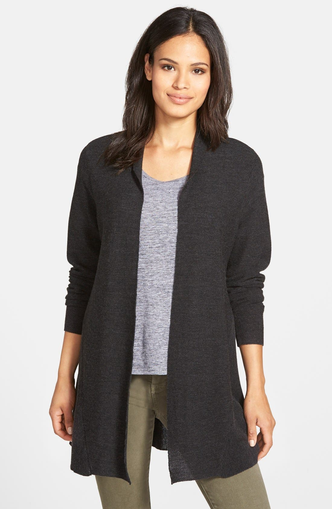 Alternate Image 1 Selected - Eileen Fisher Merino Open Front Cardigan