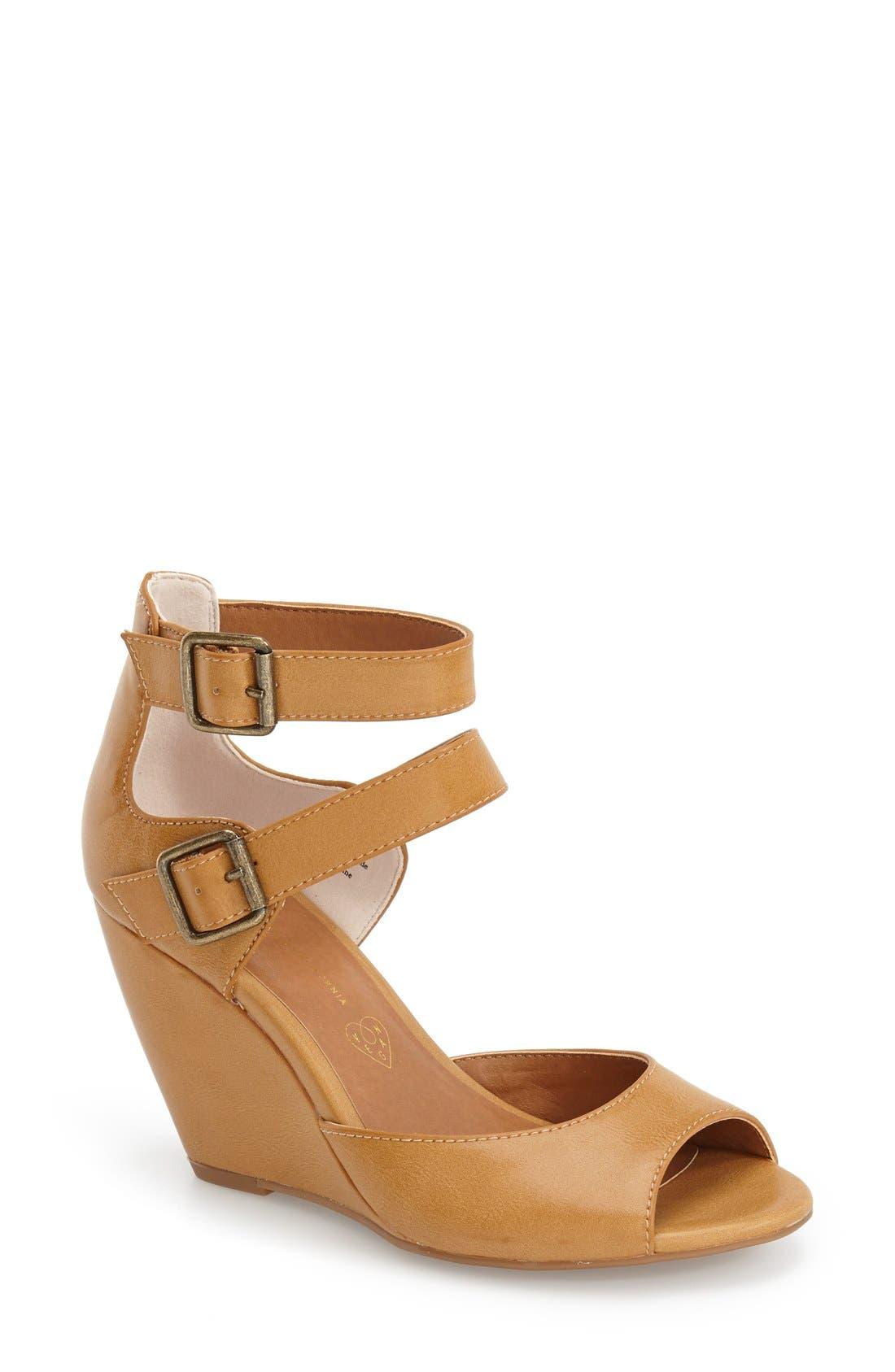 Alternate Image 1 Selected - BC Footwear 'Spark' Wedge Sandal (Women)
