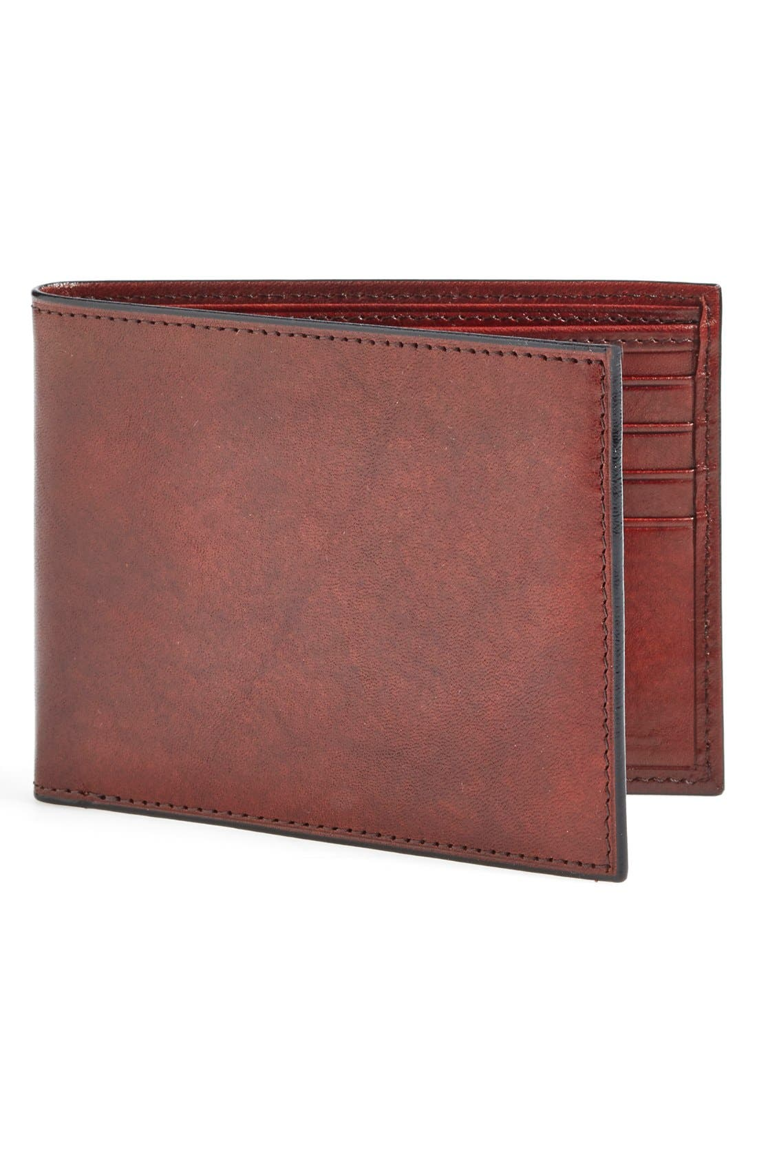 'Old Leather' Deluxe Wallet,                             Main thumbnail 1, color,                             Dark Brown