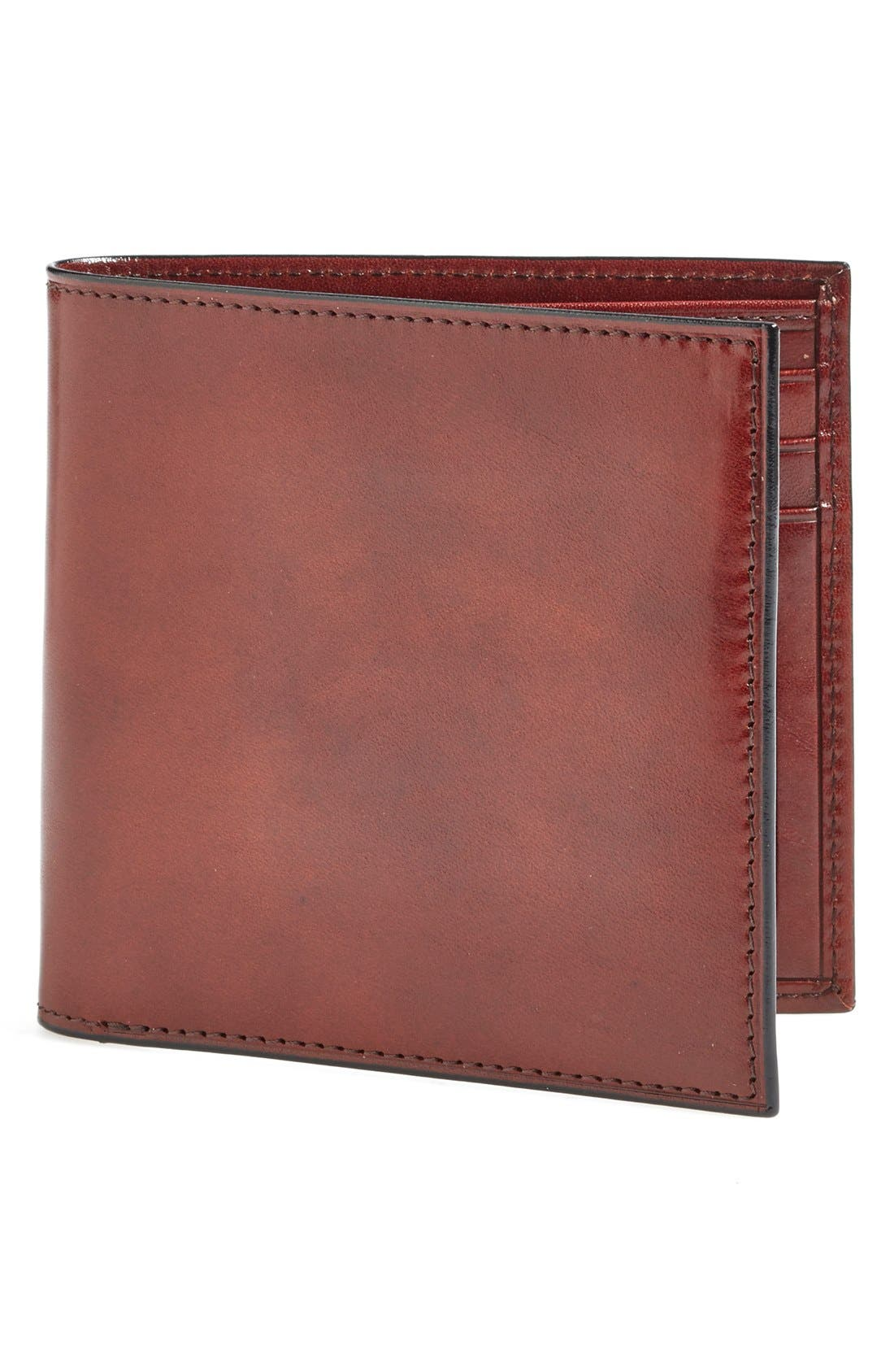 'Old Leather' Bifold Wallet,                         Main,                         color, Dark Brown